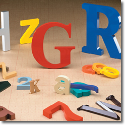 Selection of different Injection Molded Letters